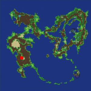 遺跡に落ちた隕石の場所(第1世界)