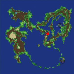 洞窟(海賊のアジトへの洞窟)の場所(第1世界)