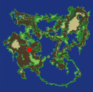 飛竜の谷の場所(第3世界)