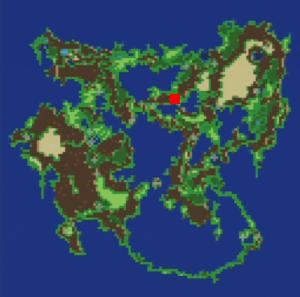 封印城クーザーの場所(第3世界)