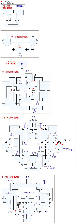 ロンカ遺跡のマップ画像