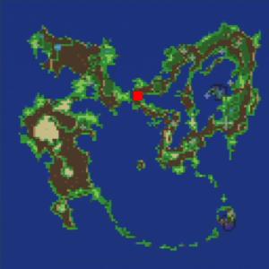 トゥールの村の場所(第1世界)