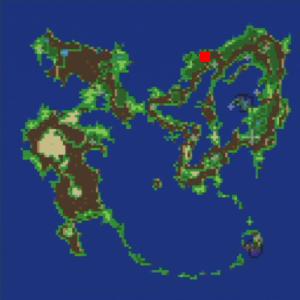 リックスの村の場所(第1世界)