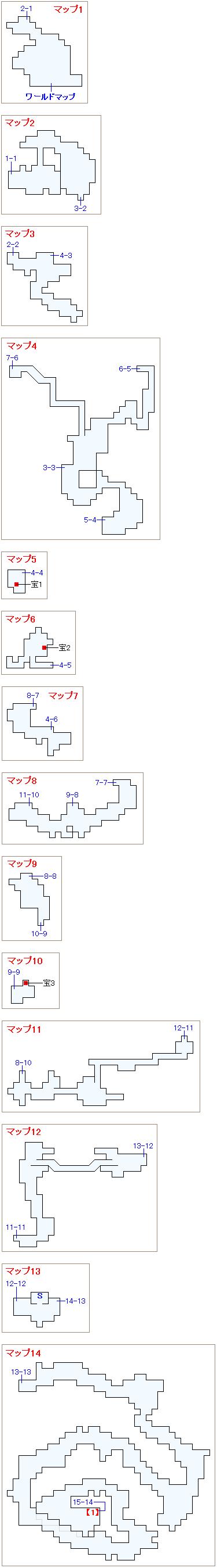 崩壊前チャート1・コルツ山マップ画像(1)