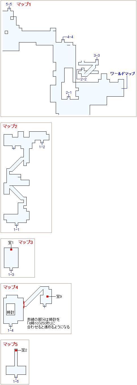 崩壊前チャート3・ゾゾの町マップ画像(1)