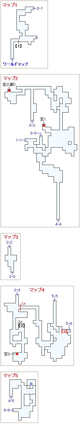 崩壊後のシャドウ加入チャート・獣ヶ原の洞窟マップ画像(1)