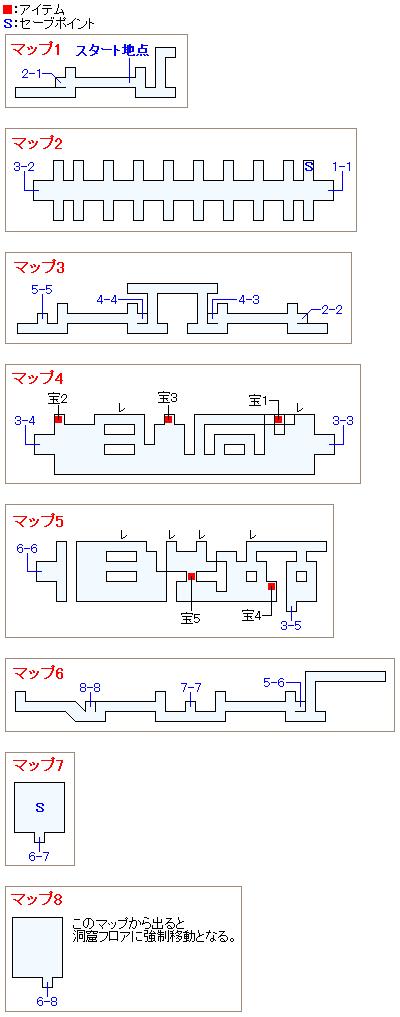 夢のダンジョン(魔列車フロア)のマップ画像