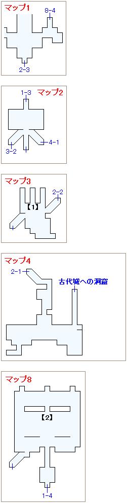 サブイベント「魔大戦の城」・フィガロ城マップ画像(2)