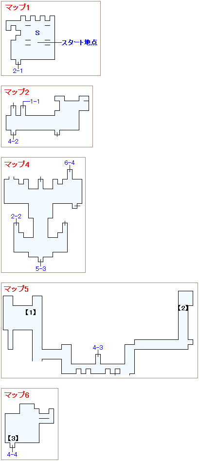 サブイベント「カイエンの迷い」・夢のダンジョンドマ城フロアマップ画像(1)