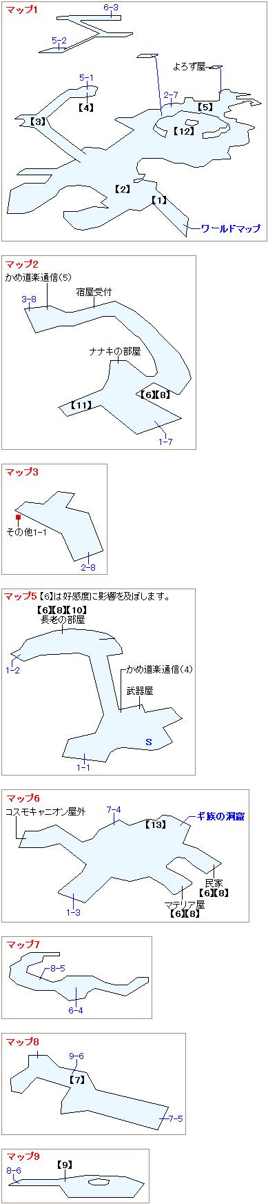 ストーリー攻略マップ・コスモキャニオン(1)