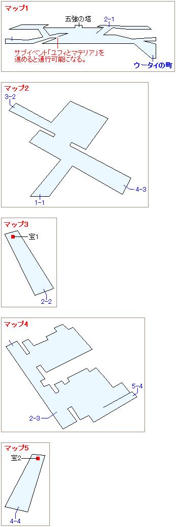 ストーリー攻略マップ・ウータイ(1)