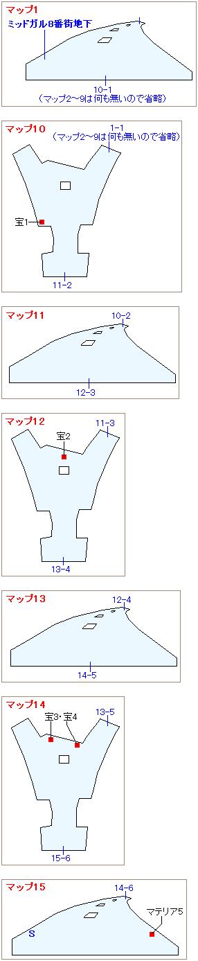 ストーリー攻略マップ・螺旋トンネル(1)