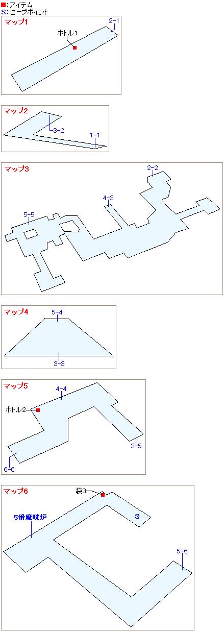 4番街プレート内部のマップ