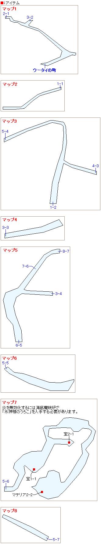 ウータイ・ダチャオ像のマップ