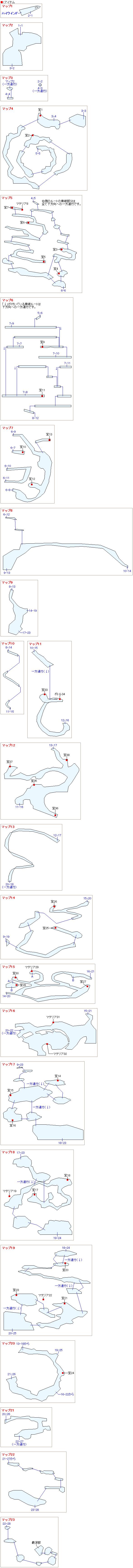 大空洞のマップ
