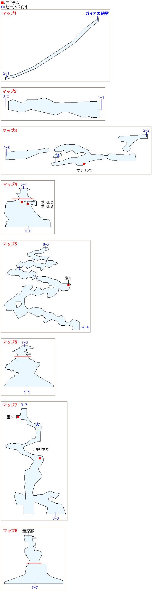 竜巻の迷宮のマップ