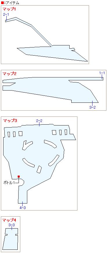 ミッドガル8番街(物語序盤)のマップ
