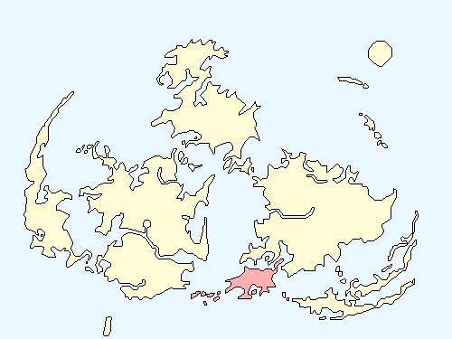 ウッドランドエリアのワールドマップ上での範囲