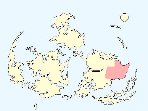 グラスランドエリアのワールドマップ上での範囲