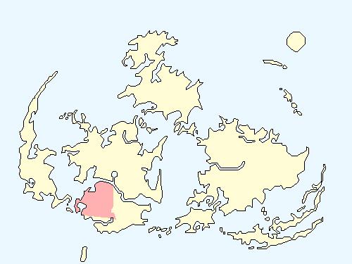 コスモエリアのワールドマップ上での範囲