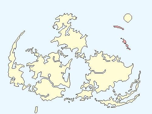 ゴブリンアイランドのワールドマップ上での範囲