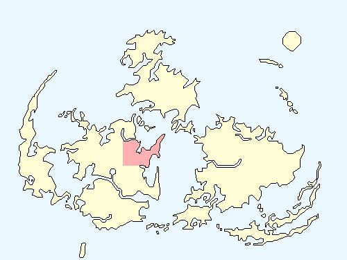 コレルエリアのワールドマップ上での範囲
