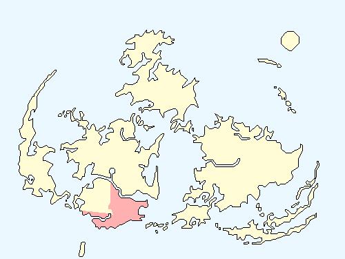 ゴンガガエリアのワールドマップ上での範囲