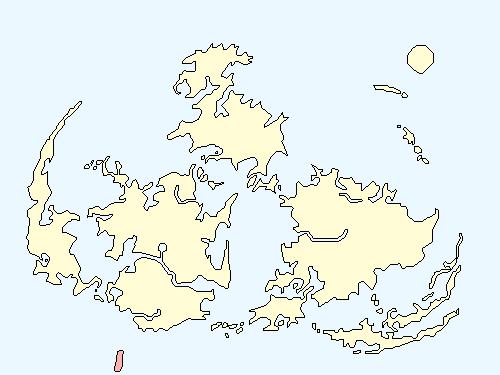 サボテンアイランドのワールドマップ上での範囲