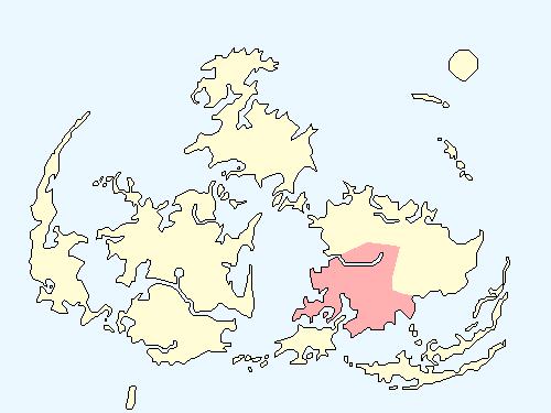ジュノンエリアのワールドマップ上での範囲