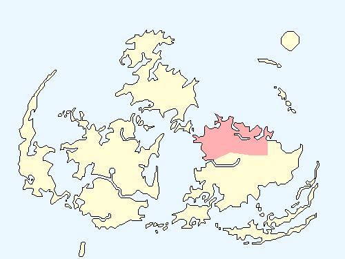 ミッドガルエリアのワールドマップ上での範囲