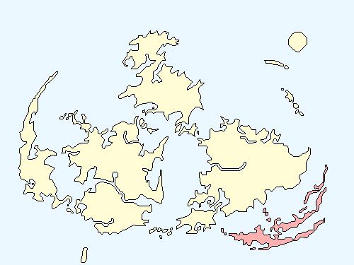 ミディールエリアのワールドマップ上での範囲