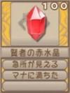 賢者の赤水晶(エーテル値100)