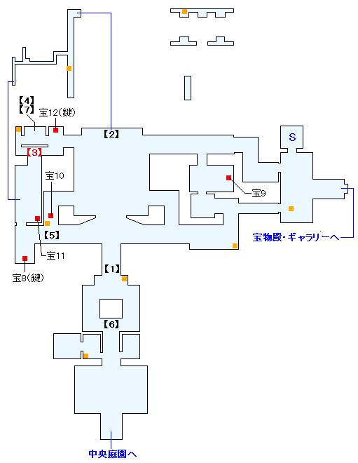 マダラメ・パレス 宝物殿・ラウンジの攻略マップ