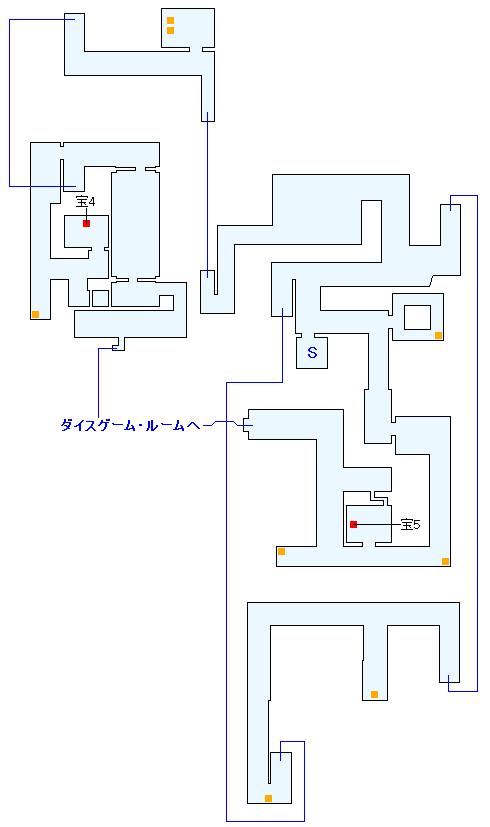 ニイジマ・パレス ダイスゲーム・従業員通路の攻略マップ