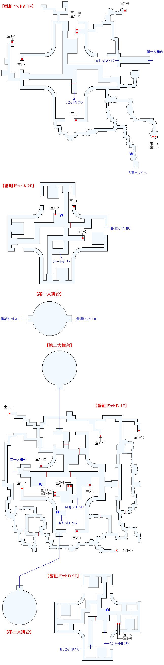 マップ画像・幻想大東テレビ