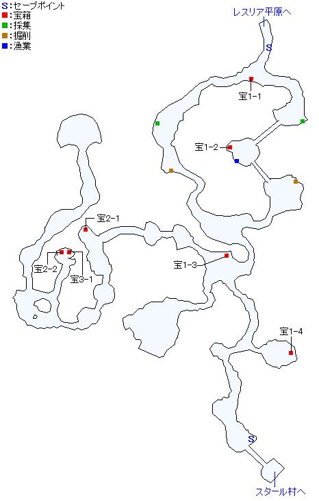 ダカーフ山道マップ