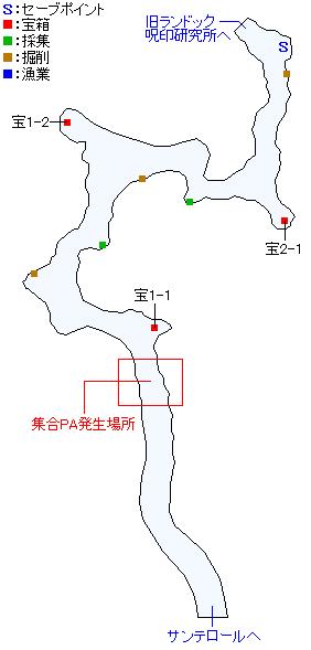 東エイヒッド山脈・北部マップ