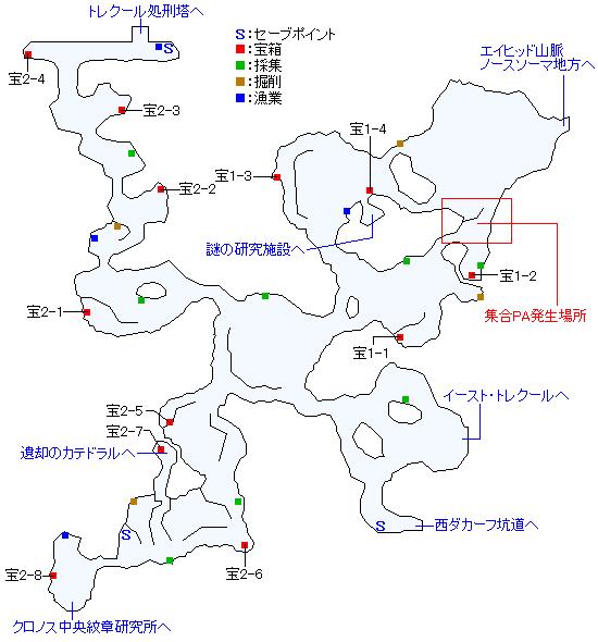 マップ画像トレクール砂丘