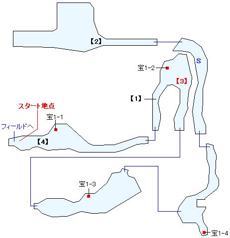 ワイヨン鏡窟マップ画像