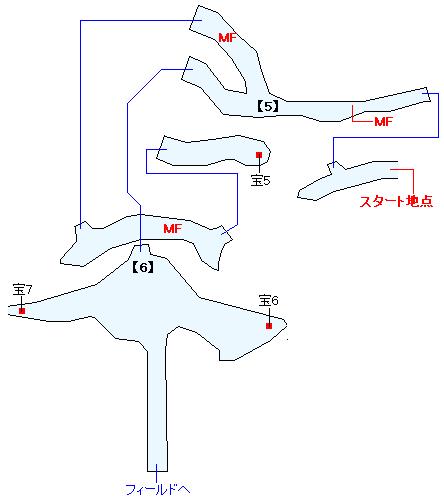 アラミス湧水洞マップ画像(3)
