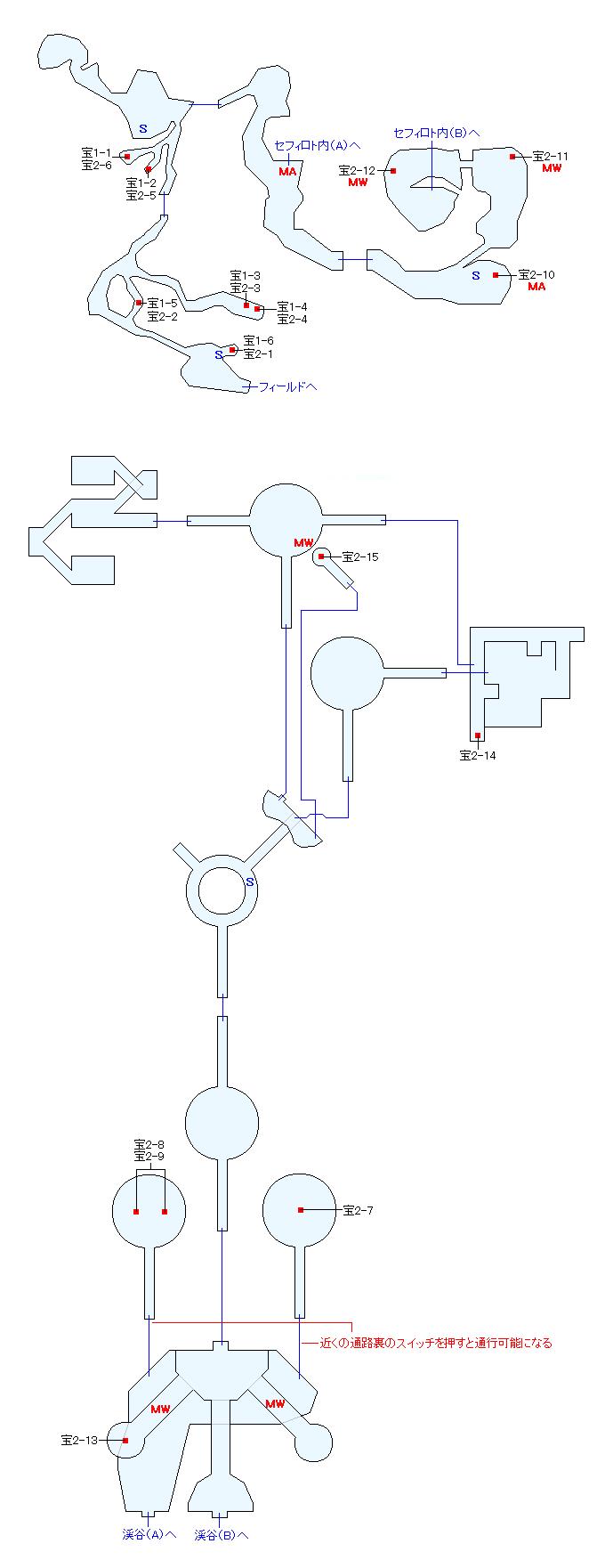 タタル渓谷マップ