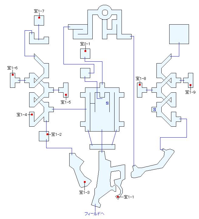 コーラル城マップ