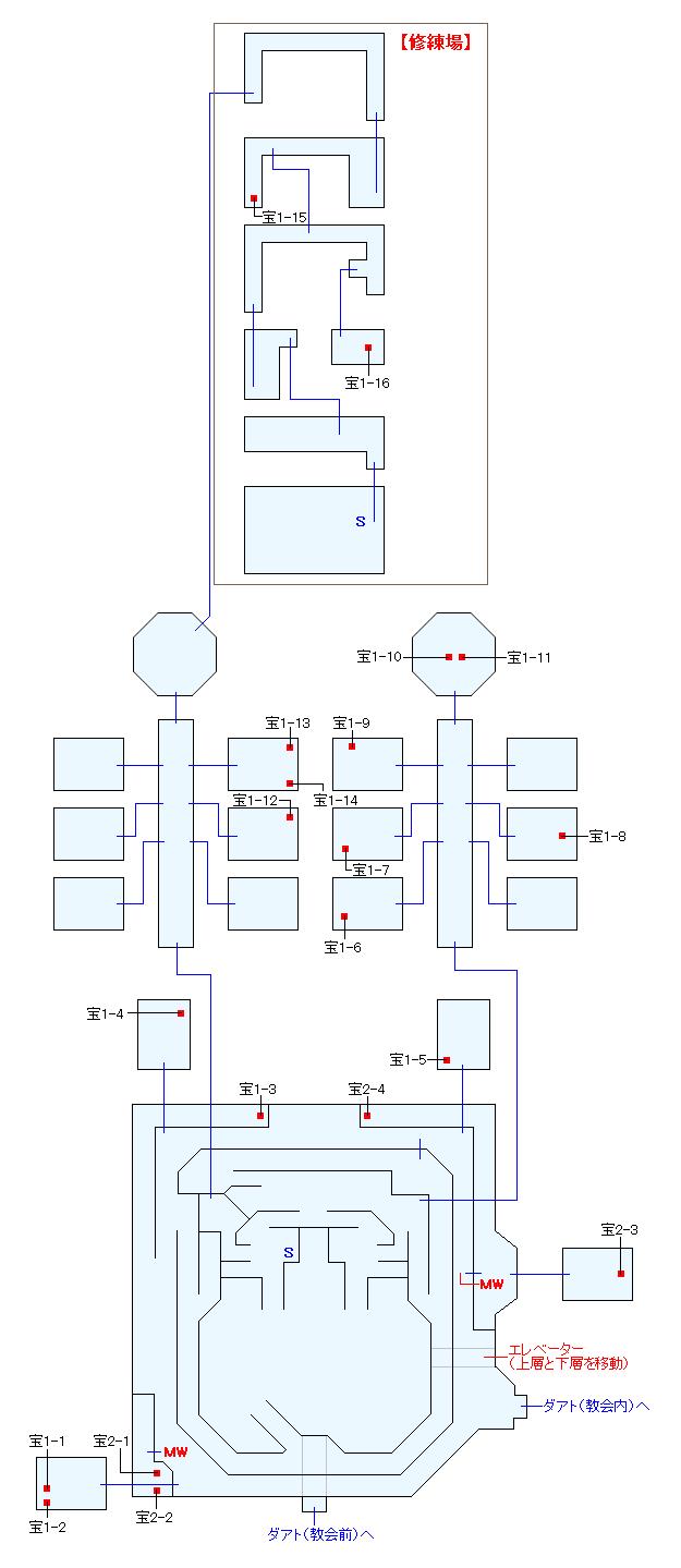 神託の盾本部マップ