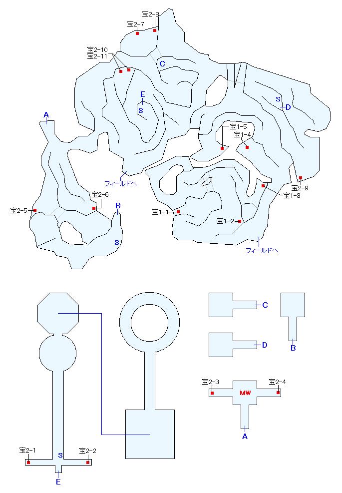 メジオラ高原マップ