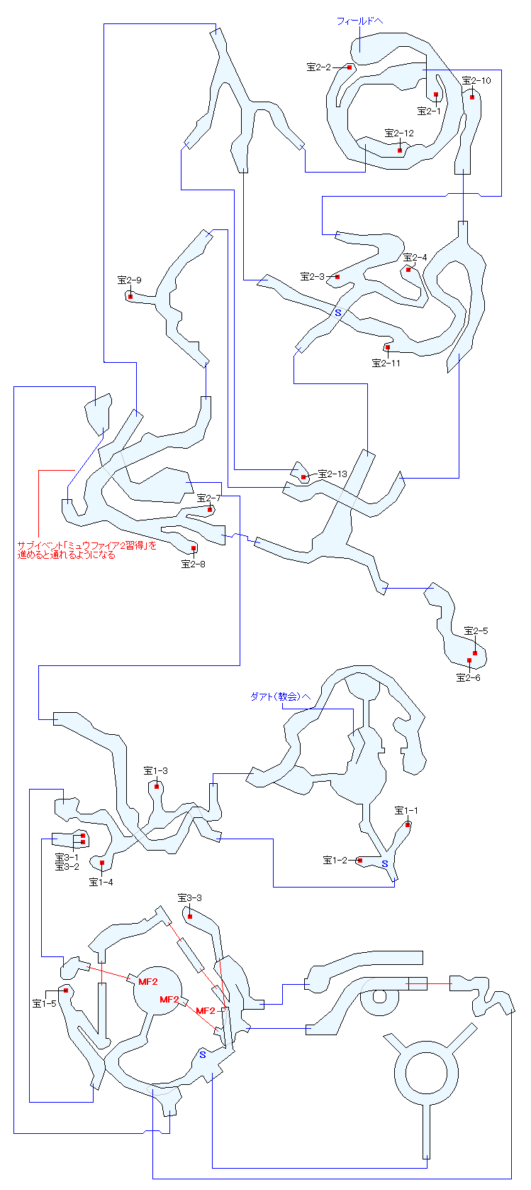 ザレッホ火山マップ