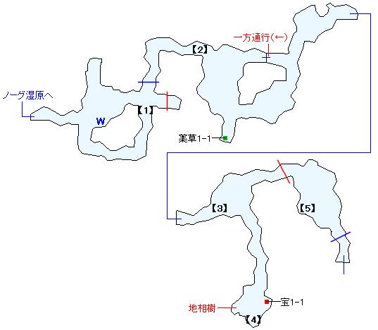 ワァーグ樹林マップ画像(1)