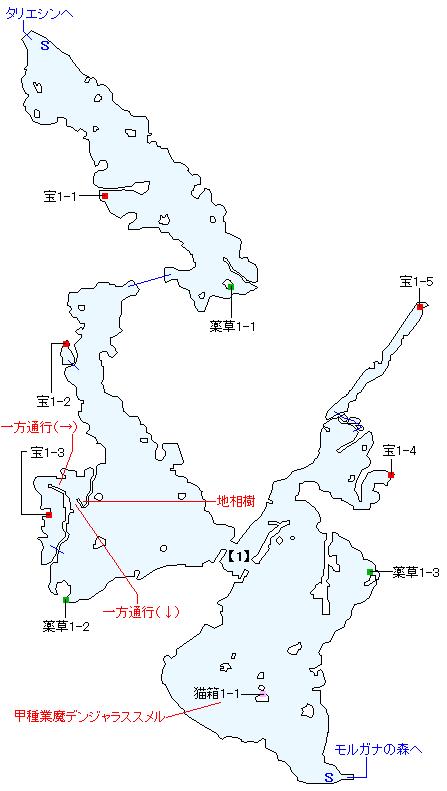 プルナハ湖畔崖道マップ画像
