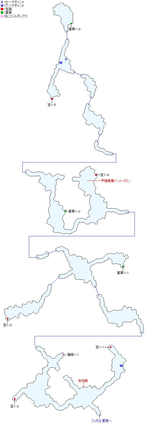 マップ画像・ハドロウ沼窟