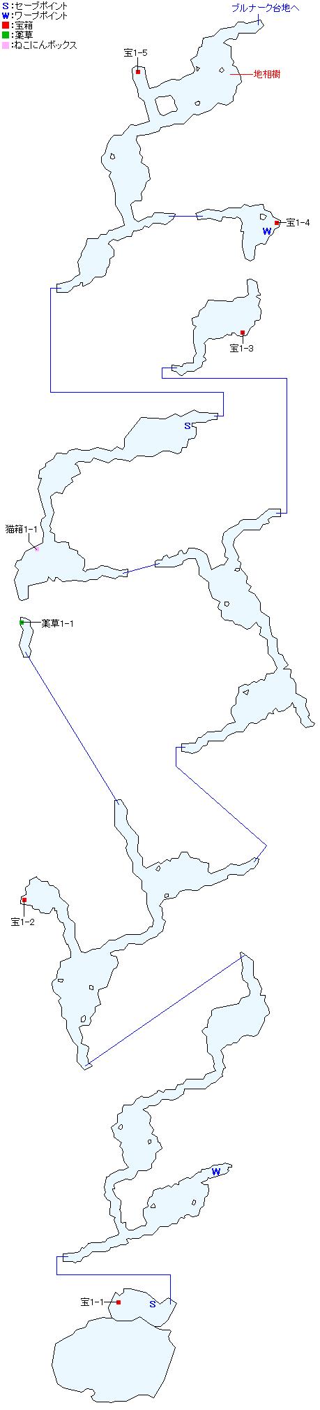 西ラバン洞穴マップ