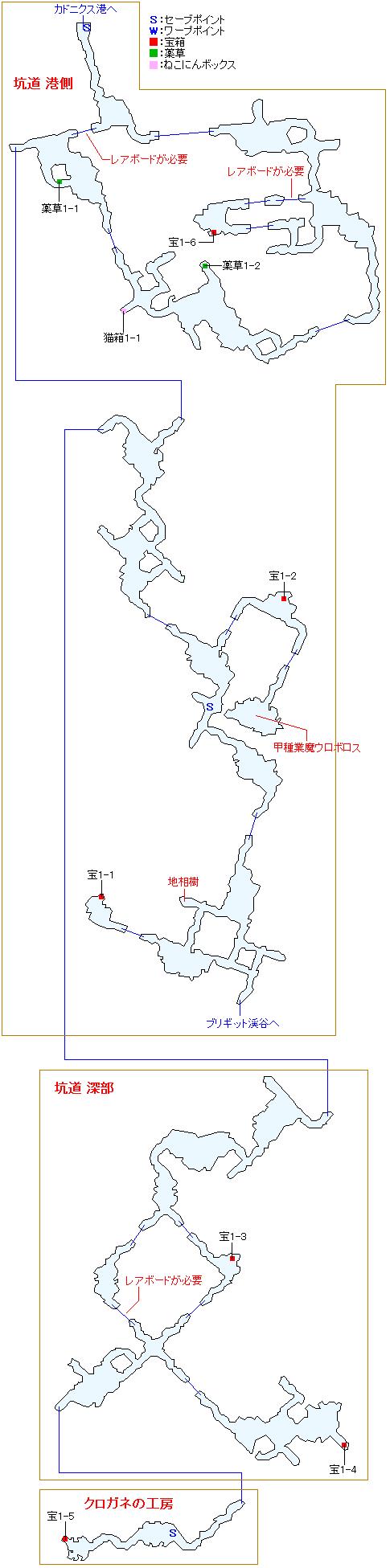 ヴェスター坑道マップ
